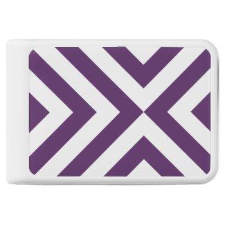 Geometric Purple and White Chevrons Power Bank