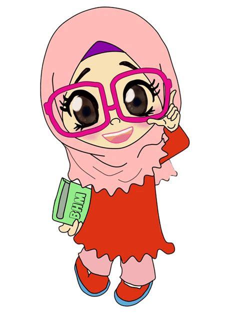 kartun pasangan muslim modern