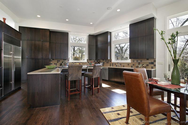 Kitchen Design Ideas With Dark Wood Cabinets Dream House