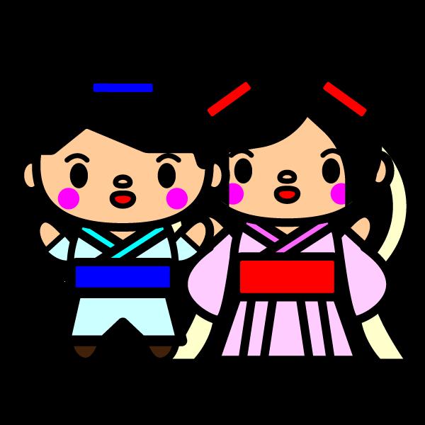 かわいい織姫と彦星の無料イラスト商用フリー オイデ43