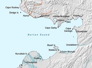 Map of Norton Sound, Alaska
