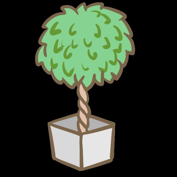 観葉植物4のイラスト かわいいフリー素材が無料のイラストレイン