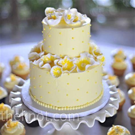 Yellow Abstract Flower Wedding Cake   A Wedding Cake Blog