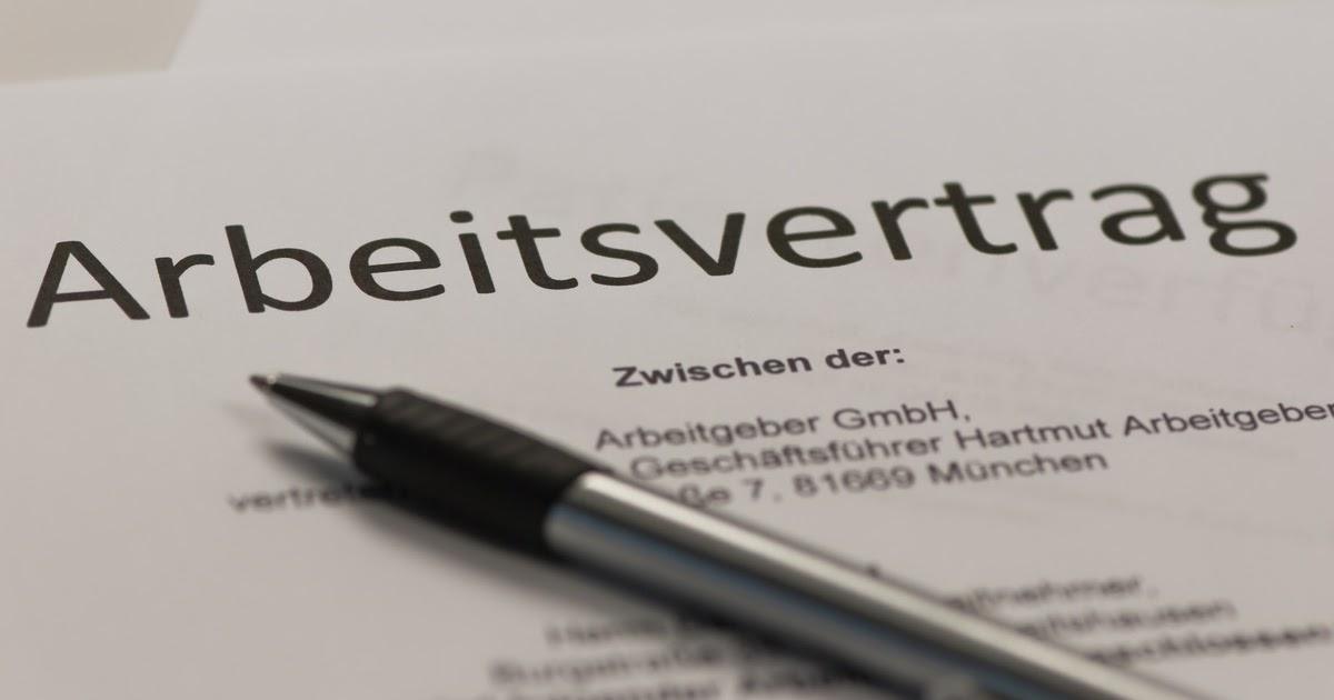 Formular Arbeitsvertrag Zum Ausdrucken / 1