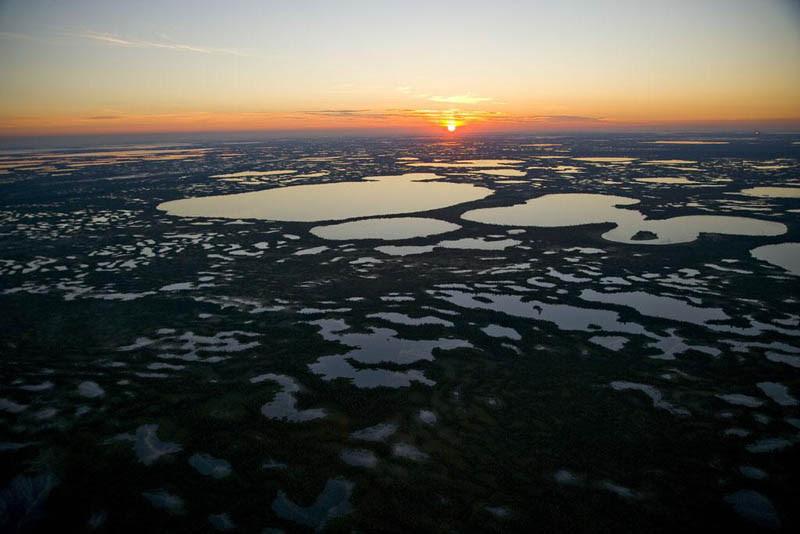 Moorland near Surgut, Siberia, Russia