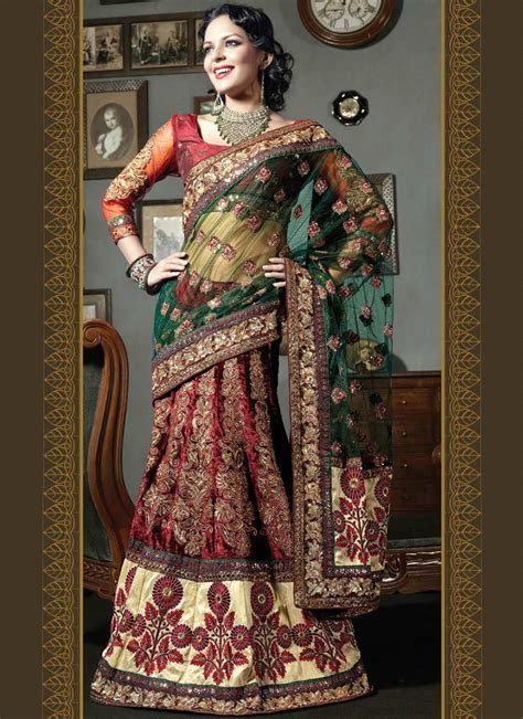 SHE FASHION CLUB: Wedding Bridal Lehenga Sarees