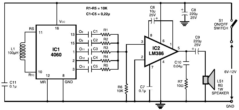 audio kit 810 circuit diagram