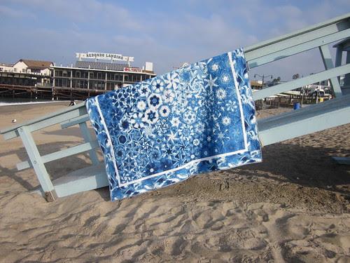 Blue OBW at beach/pier