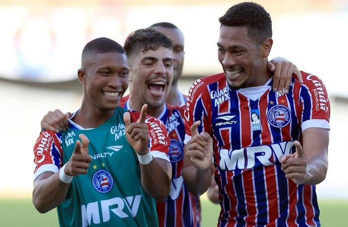Hernane metralhadora Bahia x Juazeirense (Foto: Felipe Oliveira / Divulgação / E.C. Bahia)