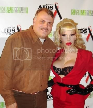 Wolfgang Busch and Amanda Lepore at the Red Ball ceremony of the New York AIDS Film Festival on December 1, 2007.