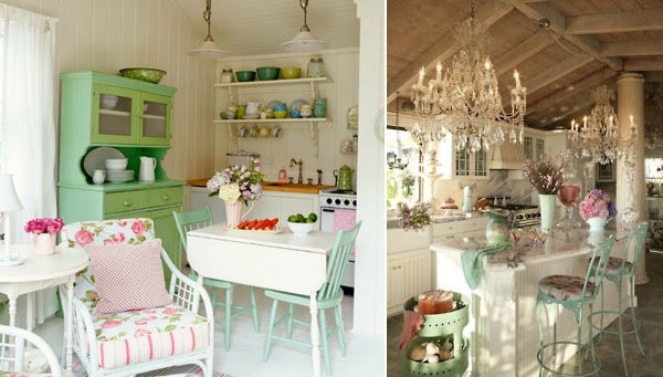 Shabby Chic Decor And Kitchen Curtain Ideas | afreakatheart