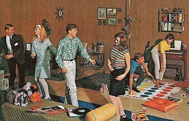 1966 ... rec room party by x-ray delta one, via Flickr