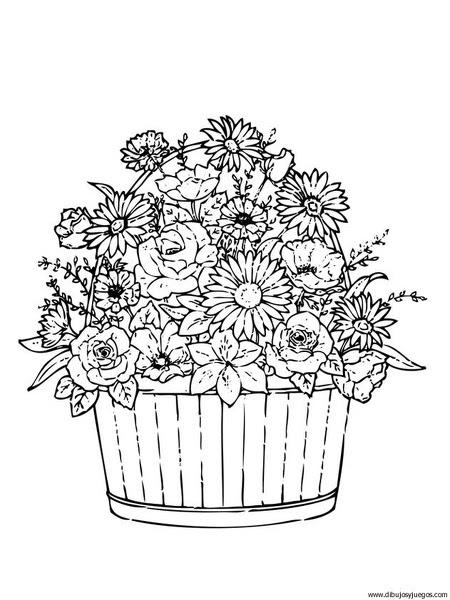 Dibujo Flores Ramos 014 Dibujos Y Juegos Para Pintar Y Colorear