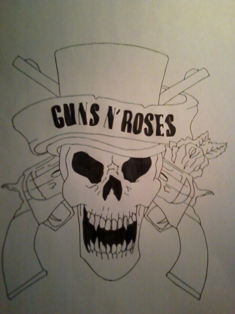 Pictures Of Skulls And Guns Drawings Rock Cafe