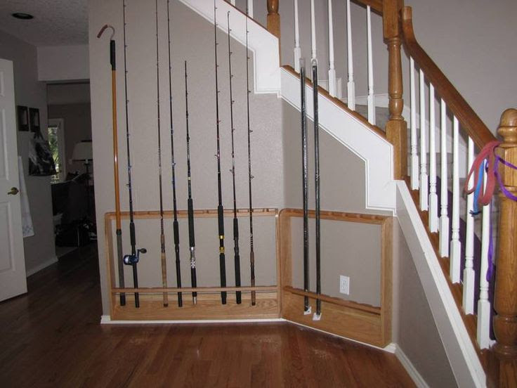 Fishing rod rack, DIY. Includes pictures and steps!