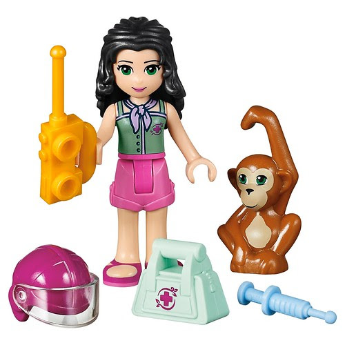 LEGO Friends First Aid Jungle Bike #41032-Emma rescue accessories & Orangutan