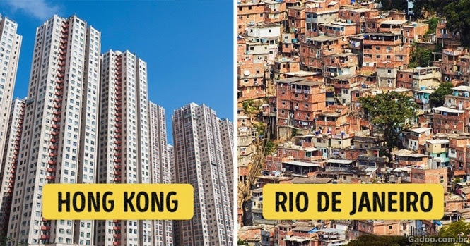 Como são os subúrbios de algumas cidades do planeta