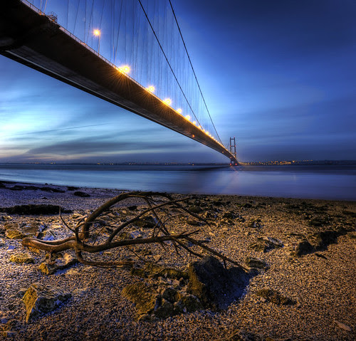 Humber Bridge Vertorama por Digit@l Exposure II