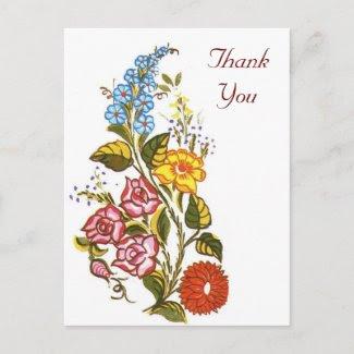 Hungarian floral postcard