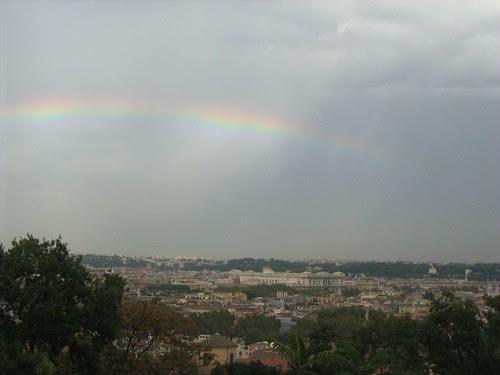 Rainbow over Rome