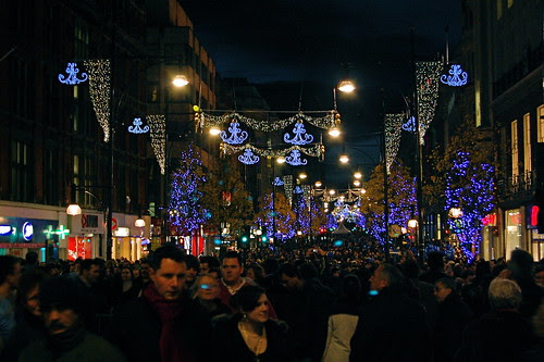 Christmas Shopping in Oxford Street