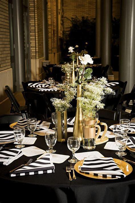 Modern Elegant White, Black and Gold Wedding   Black Gold