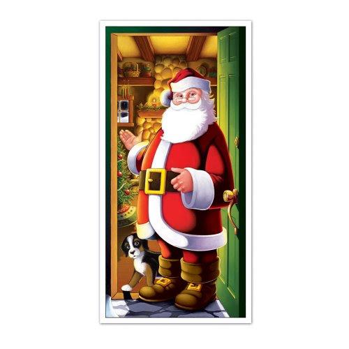 Santa Door Cover Party Accessory (1 count) (1/Pkg)