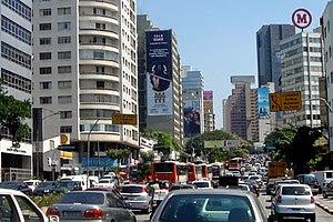 Traffic congestion, Sao Paulo, Brazil (+ open ...