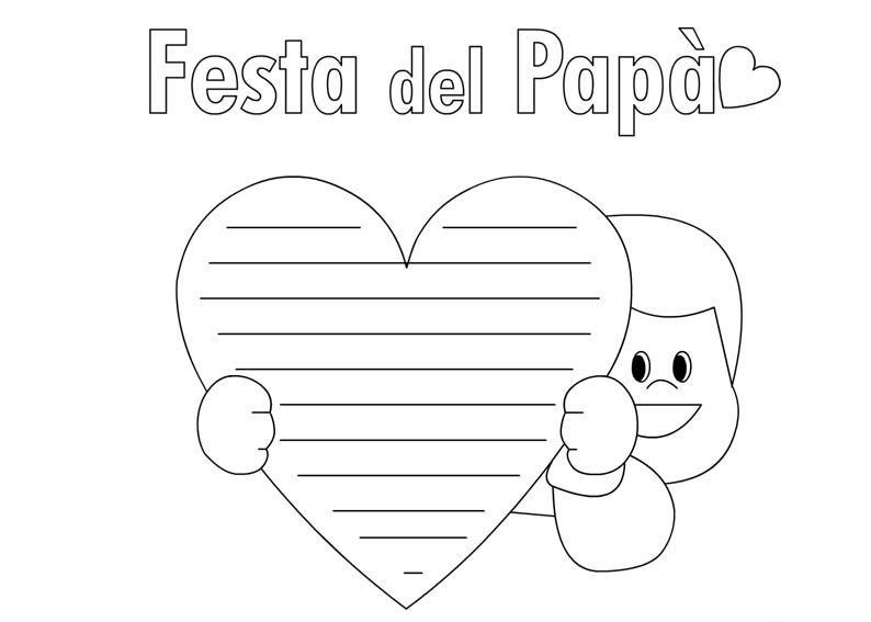 Disegni Da Colorare Per La Festa Del Papà Bimbi Di Carta