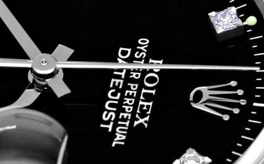 Original-Foto 3, ROLEX DATEJUST HERREN-UHR EDELSTAHL DIAMANT-ZIFFERBLATT, U2064