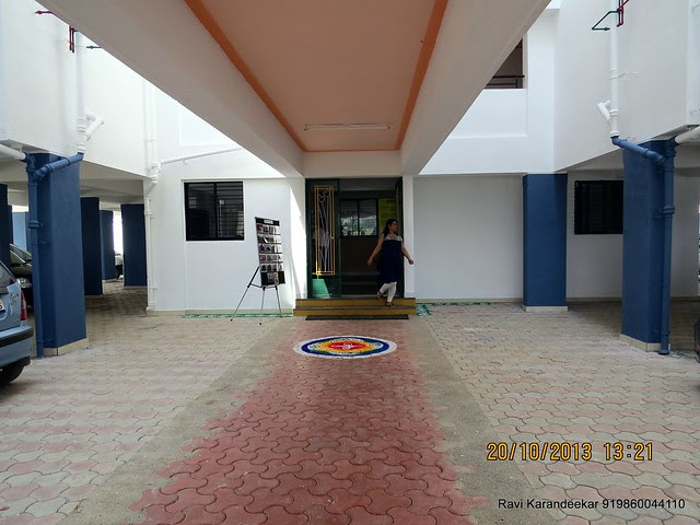 Wide Open Space in front of the Entrance Lobby - Handing Over Ceremony of Sanjeevani Developers' Sangam at Sus on Sunday 20th October 2013