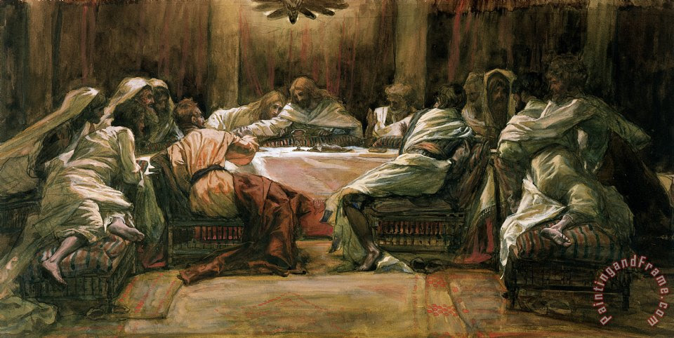 Tissot The Last Supper Painting The Last Supper Print For Sale