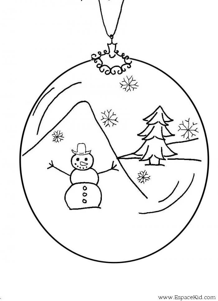Coloriage Boule De Noel à Imprimer Dans Les Coloriages Boules De