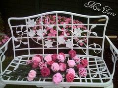 Crocheted Flowers in my garden.