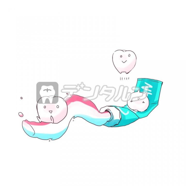 歯磨き粉イラストの無料素材 歯科医院歯医者が利用出来る歯科関連