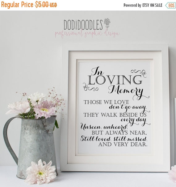 70 Off Thru 416 In Loving Memory Printable Sign For Wedding