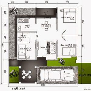 denah rumah ukuran 6 x 10 - all desain