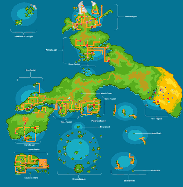 Pokemon World Map And Locations Images Pokemon Images