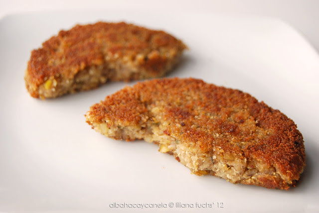 Hamburguesas de quinoa, lentejas y soja