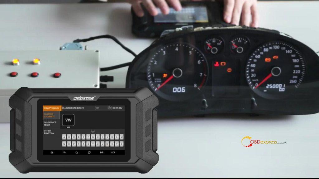 Obdstar Odo Mästare VW Passat vägmätare Correction 02