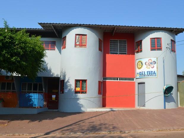 Creche Municipal Teca em Cacoal, RO (Foto: Magda Oliveira/G1)