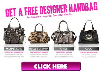 Claim your favorite designer handbag - Click here for selection