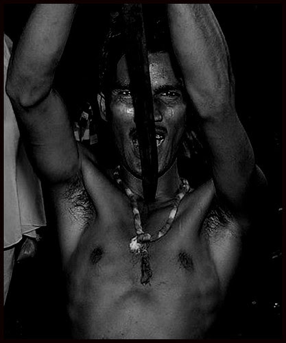 Neck Piercing With A Sword - Mohomed Rafaee by firoze shakir photographerno1