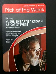 Starbucks iTunes Pick of the Week - Yusuf, the Artist known as Cat Stevens - Welcome Home