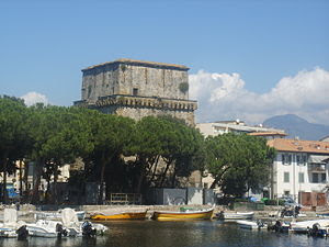 Torre Matilde and the Marina of Lucca.