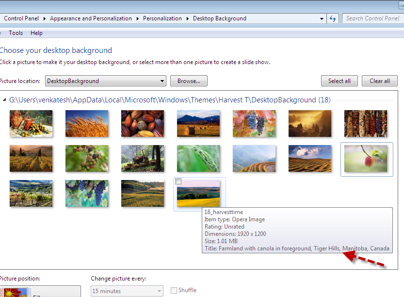 Find where Your Windows 7 Theme\u2019s Wallpapers were Photographed