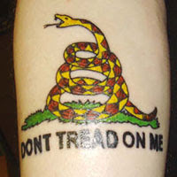 Dont Tread On Me Snake Tattoos