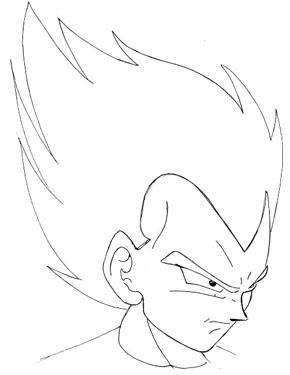 Vegeta De Dragon Ball Dibujando