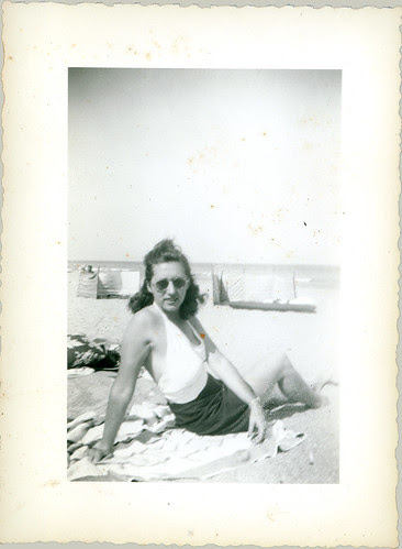 Lady in shorts on beach