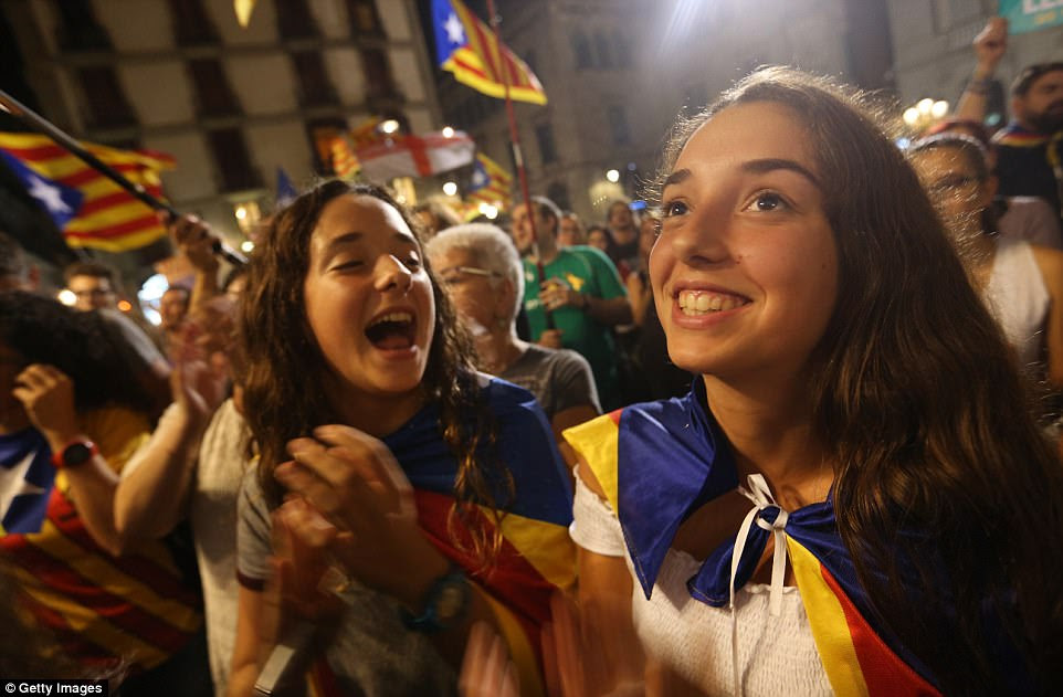 """Mr Puigdemont wants the regional parliament to debate and vote on how to respond to what he called the Spanish government's """"attempt to wipe out"""" Catalonia's autonomy"""